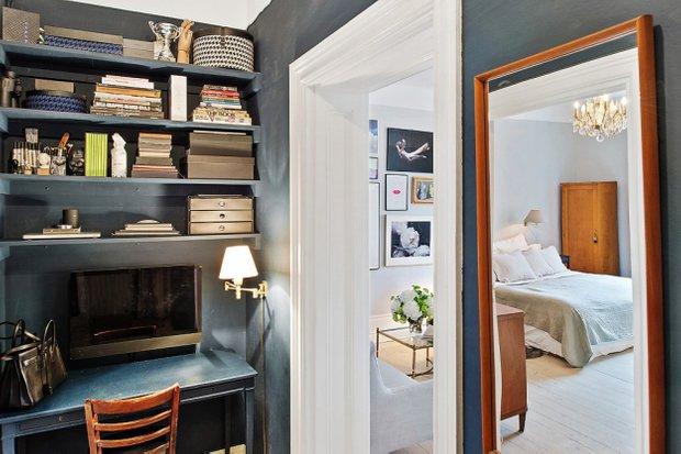 Фотография: Спальня в стиле Скандинавский, Малогабаритная квартира, Квартира, Швеция, Дома и квартиры – фото на INMYROOM