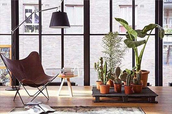 Фотография: Гостиная в стиле Лофт, Скандинавский, Декор интерьера, DIY, Квартира, Дом, Мебель и свет – фото на INMYROOM