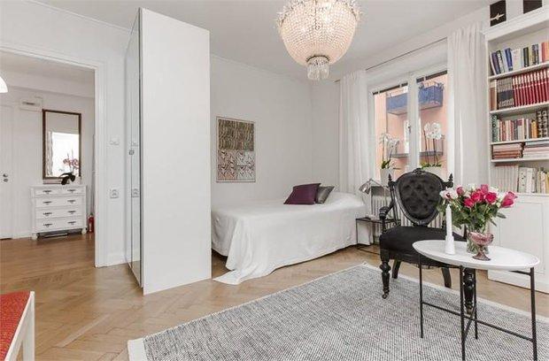 Фотография: Гостиная в стиле Скандинавский, Малогабаритная квартира, Квартира, Швеция, Дома и квартиры, Стокгольм – фото на InMyRoom.ru