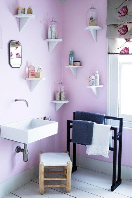 Фотография: Ванная в стиле Современный, Декор интерьера, Дизайн интерьера, Цвет в интерьере, Краска – фото на INMYROOM