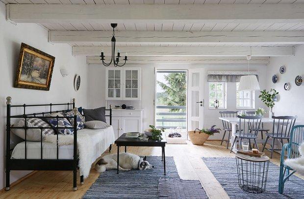 Фотография: Гостиная в стиле Прованс и Кантри, Гид, Belinka, как покрасить дачу, дачные домики – фото на INMYROOM