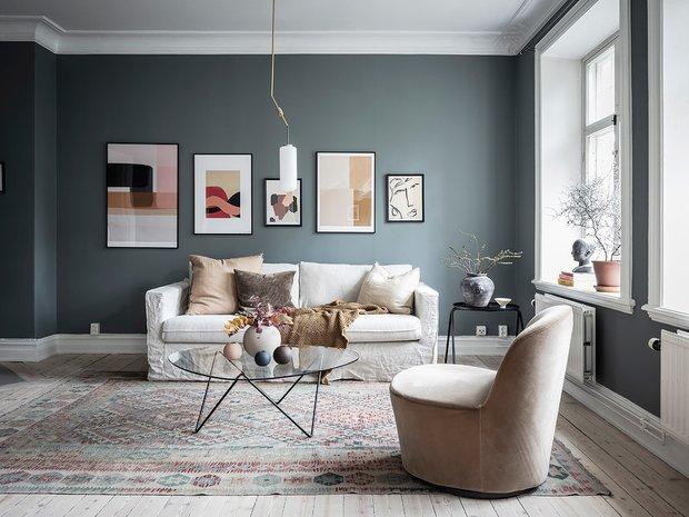 Фотография: Гостиная в стиле Скандинавский, Современный, Декор интерьера, Белый, Серый – фото на INMYROOM