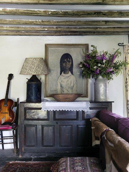 Фотография: Декор в стиле Прованс и Кантри, Дом, Цвет в интерьере, Дома и квартиры, Стены, Балки – фото на INMYROOM