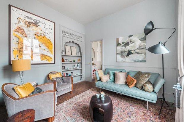 Фотография: Гостиная в стиле Эклектика, Декор интерьера, Дизайн интерьера, Цвет в интерьере, Советы, Белый – фото на INMYROOM