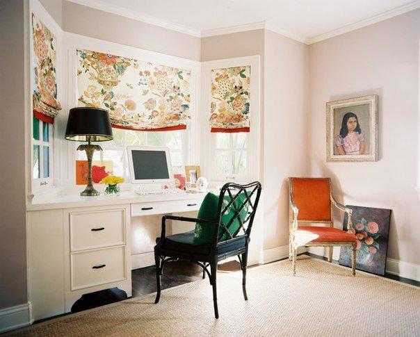 Фотография: Офис в стиле Прованс и Кантри, Классический, Современный, Гостиная, Интерьер комнат, Тема месяца, Шторы – фото на INMYROOM