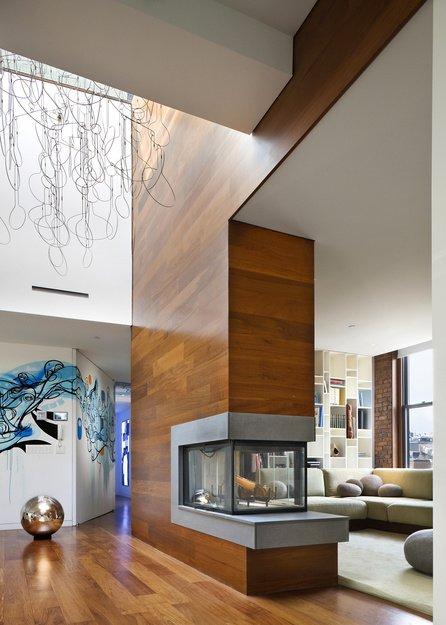 Фотография: Гостиная в стиле Лофт, Квартира, Дома и квартиры, Фитостены – фото на INMYROOM