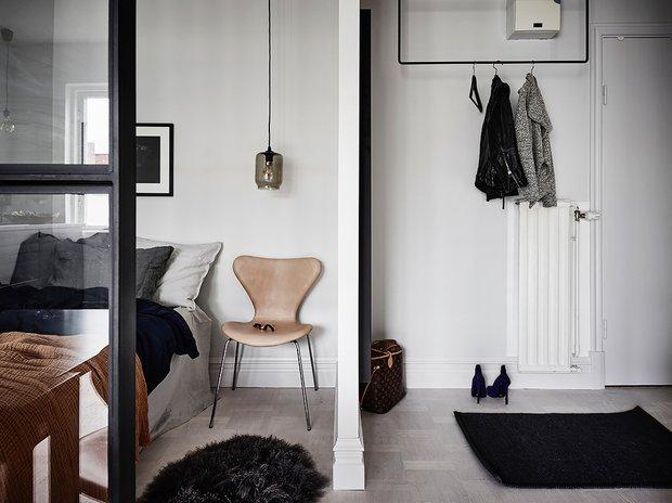 Фотография: Спальня в стиле Скандинавский, Декор интерьера, Квартира, Студия, до 40 метров – фото на INMYROOM