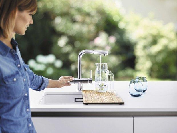 Фотография:  в стиле , Кухня и столовая, Советы, Blanko, кухонный смеситель, как выбрать смеситель – фото на INMYROOM