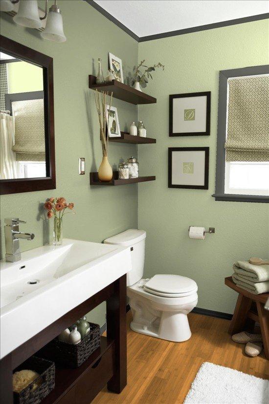 Фотография: Ванная в стиле Эклектика, Декор интерьера, Дизайн интерьера, Цвет в интерьере, Белый, Синий, Серый – фото на INMYROOM