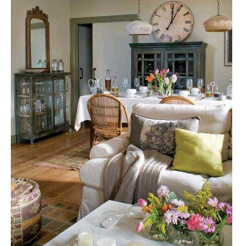 Фотография: Гостиная в стиле Прованс и Кантри, Современный, Декор интерьера, Часы, Декор дома – фото на INMYROOM