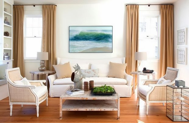 Фотография: Гостиная в стиле Скандинавский, Декор интерьера, Текстиль, Шторы – фото на INMYROOM