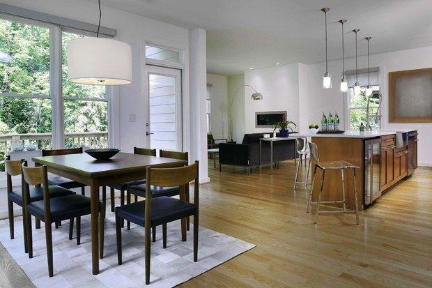 Фотография: Кухня и столовая в стиле Скандинавский, Гостиная, Советы – фото на INMYROOM