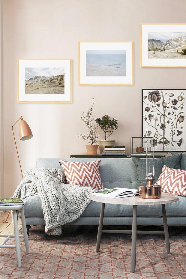 Фотография: Гостиная в стиле Скандинавский, Декор интерьера, Декор, Декор дома, Современное искусство – фото на INMYROOM