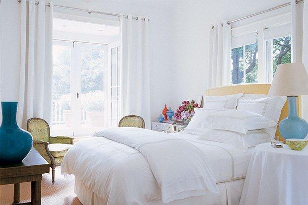 Фотография: Спальня в стиле Скандинавский, Дом, Дома и квартиры, Интерьеры звезд – фото на INMYROOM