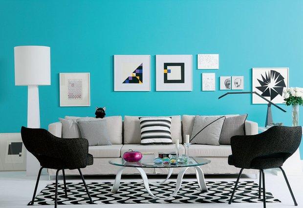 Фотография: Гостиная в стиле Скандинавский, Эклектика, Декор интерьера, Дизайн интерьера, Цвет в интерьере, Dulux, ColourFutures, Akzonobel – фото на INMYROOM