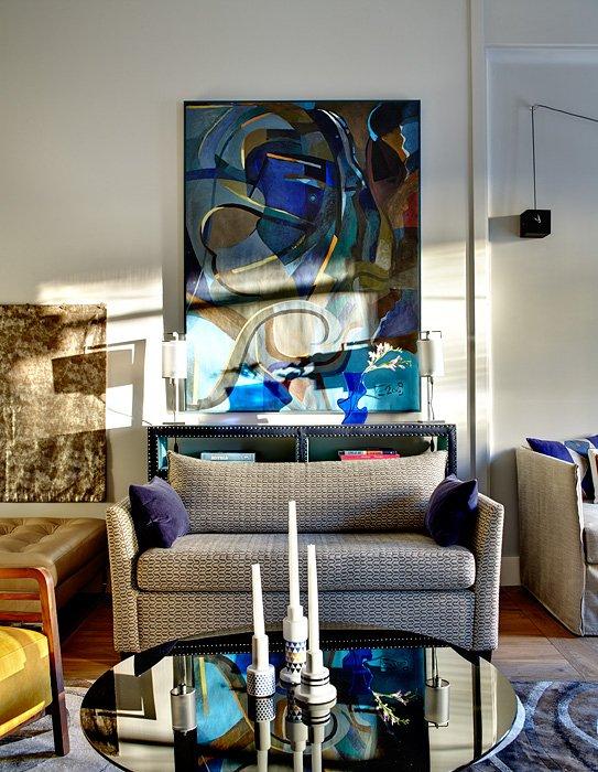 Фотография: Гостиная в стиле Восточный, Квартира, Дома и квартиры, Перепланировка – фото на InMyRoom.ru