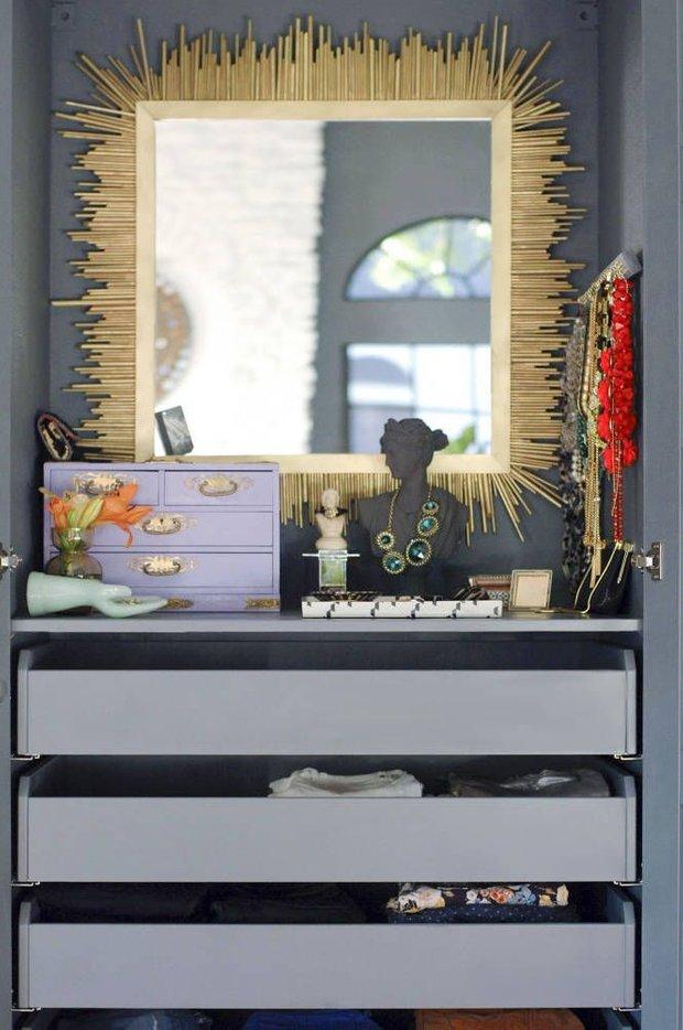 Фотография: Мебель и свет в стиле Эклектика, Гардеробная, Интерьер комнат, Гардероб – фото на INMYROOM