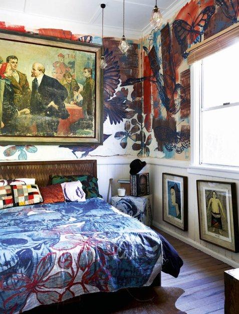 Фотография: Спальня в стиле Лофт, Эклектика, Дома и квартиры, Интерьеры звезд – фото на INMYROOM