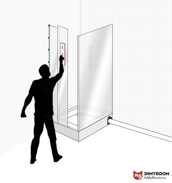 Фотография:  в стиле , Ванная, Ремонт на практике, Инфографика, душевая кабина своими руками – фото на InMyRoom.ru