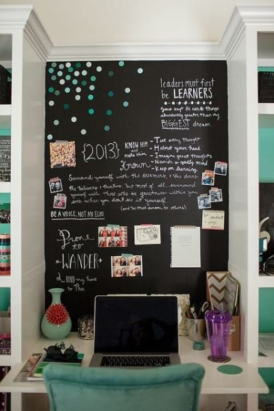 Фотография: Декор в стиле Скандинавский, Декор интерьера, DIY, грифельная краска, графитовая краска, краска для школьных досок в интерьере, грифельная краска с эффектом школьной доски – фото на INMYROOM