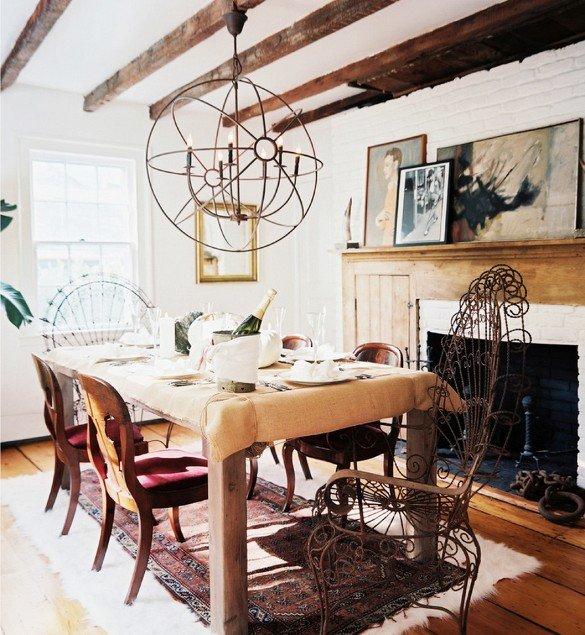 Фотография: Кухня и столовая в стиле Скандинавский, Декор интерьера, Декор дома, Картины, Окна, Пол – фото на INMYROOM