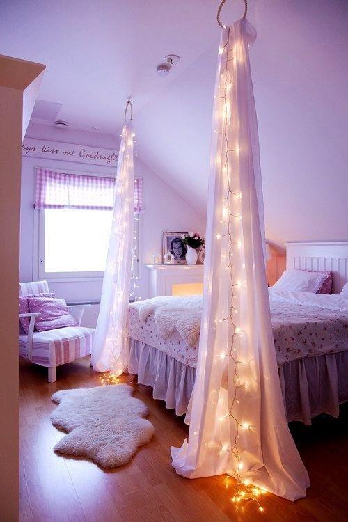 Фотография: Спальня в стиле , Декор интерьера, Декор дома, Праздник, Новый Год, Гирлянда – фото на INMYROOM