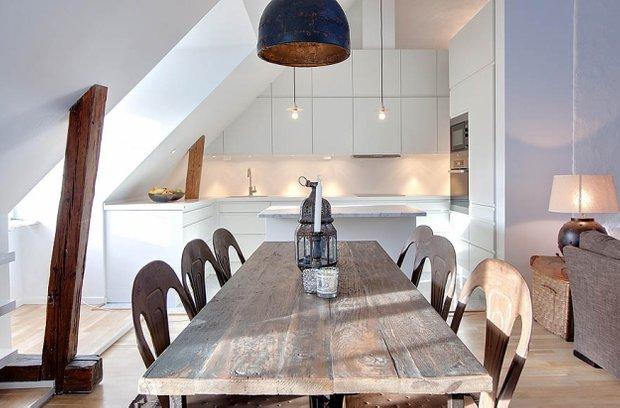 Фотография: Кухня и столовая в стиле Лофт, Скандинавский, Квартира, Дома и квартиры, Минимализм – фото на InMyRoom.ru