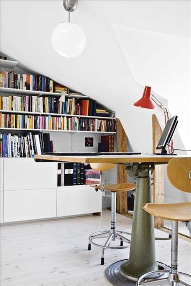 Фотография: Кабинет в стиле Лофт, Современный, Интерьер комнат, Системы хранения – фото на INMYROOM