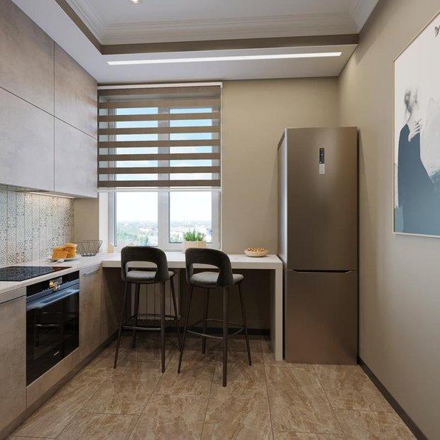Фотография: Кухня и столовая в стиле Минимализм, Советы, Перепланировка, Марина Лаптева – фото на INMYROOM