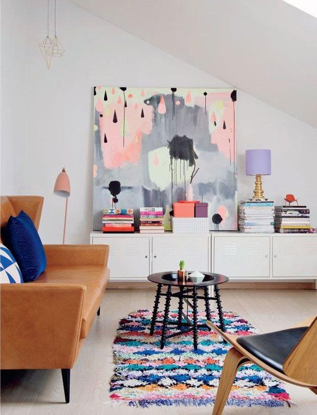 Фотография: Гостиная в стиле Лофт, Малогабаритная квартира, Интерьер комнат – фото на INMYROOM