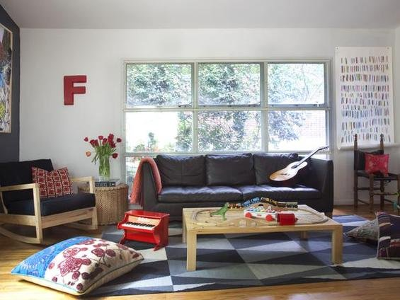Фотография: Гостиная в стиле Скандинавский, Декор интерьера, Малогабаритная квартира, Квартира, Дома и квартиры – фото на INMYROOM