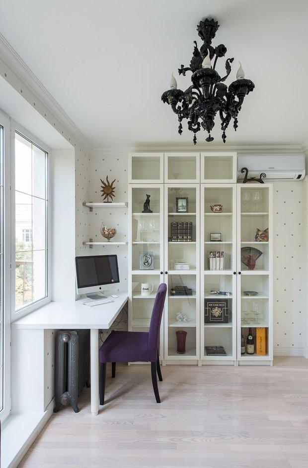 Фотография: Гостиная, Офис в стиле Современный, Эклектика, Классический, Малогабаритная квартира, Квартира, Декор, Дома и квартиры, IKEA, Проект недели – фото на INMYROOM