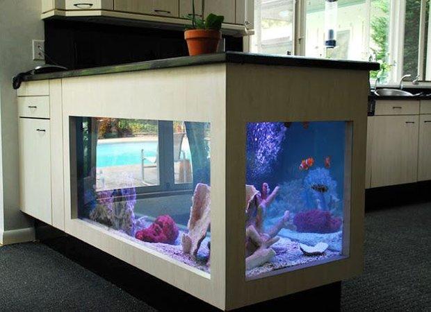 Фотография: Декор в стиле Современный, Декор интерьера, Малогабаритная квартира, Мебель и свет, Дом и дача, аквариум в интерьере, аквариум – фото на INMYROOM