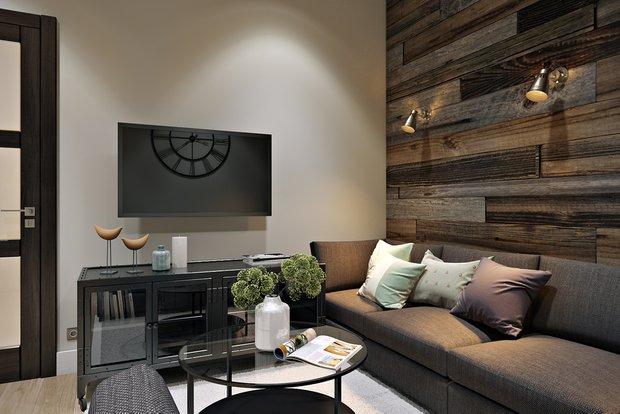 Фотография: Гостиная в стиле Современный, Эко, Лофт, Квартира, Проект недели – фото на INMYROOM