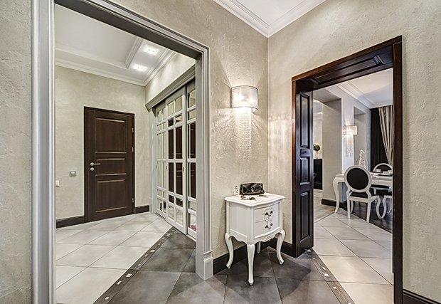 Фотография: Прихожая в стиле Классический, Современный, Квартира, Цвет в интерьере, Дома и квартиры, Белый, Ар-деко – фото на InMyRoom.ru