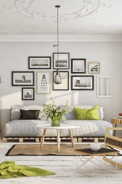 Фотография: Гостиная в стиле Скандинавский, Декор интерьера, Дизайн интерьера, Декор, Цвет в интерьере – фото на INMYROOM
