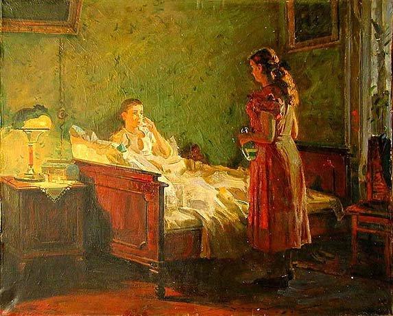 Николай Николаевич Горлов «У постели больного» 1952
