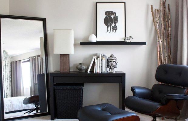 Фотография: Офис в стиле , Декор интерьера, Малогабаритная квартира, Квартира, Дома и квартиры, Советы, Зеркало – фото на INMYROOM