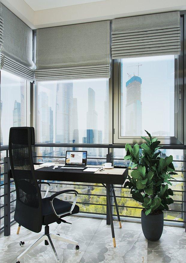 Фотография: Кабинет в стиле Современный, Квартира, Перепланировка, 2 комнаты, 40-60 метров, Наталья Мукасьян – фото на INMYROOM