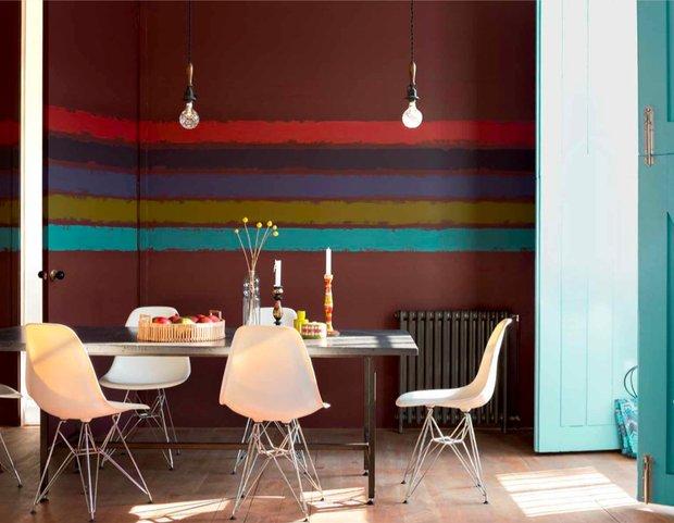 Фотография: Кухня и столовая в стиле Скандинавский, Декор интерьера, Дизайн интерьера, Цвет в интерьере, Красный, Dulux, Розовый – фото на INMYROOM