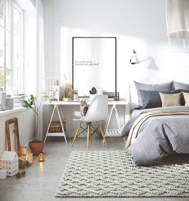 Фотография: Спальня в стиле Скандинавский, Декор интерьера, Советы – фото на INMYROOM