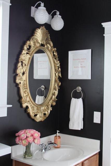 Фотография: Ванная в стиле Классический, Аксессуары, Декор, Мебель и свет, Советы, Черный, Бежевый, Синий, Серый – фото на INMYROOM