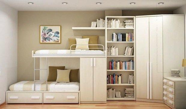 Фотография: Детская в стиле Современный, Малогабаритная квартира, Квартира, Дома и квартиры – фото на INMYROOM