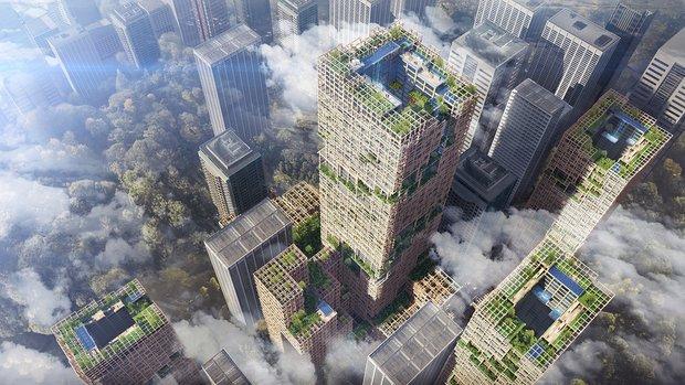 Проект японского небоскреба;источник фото: Sumitomo Forestry Co