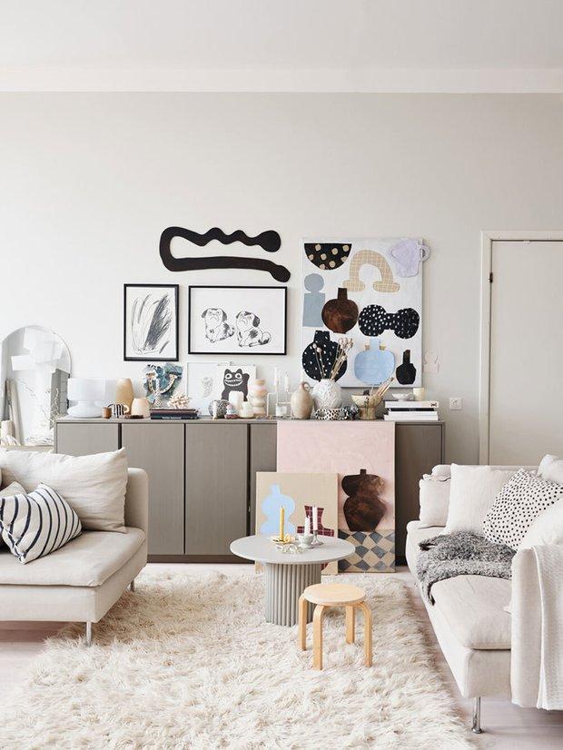 Фотография: Гостиная в стиле Скандинавский, Декор интерьера, Квартира, Швеция, Белый, Стокгольм – фото на INMYROOM