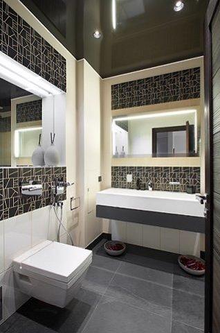 Фотография: Ванная в стиле Современный, Декор интерьера, Квартира, Мебель и свет, Цвет в интерьере, Дома и квартиры, Минимализм – фото на INMYROOM