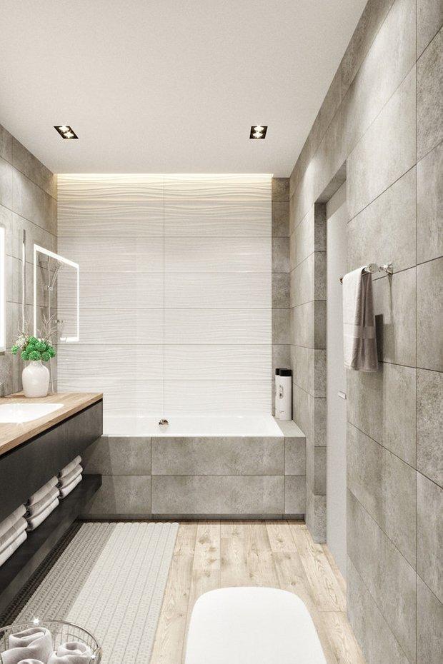 Фотография: Ванная в стиле Современный, Квартира, Проект недели, Эко, Монолитный дом, 3 комнаты, 60-90 метров, Днепропетровск, PARA Studio – фото на INMYROOM