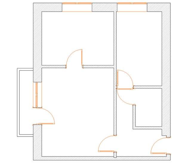 Фотография: Планировки в стиле , Квартира, Дома и квартиры, Переделка, Блочный дом, 2 комнаты, до 40 метров – фото на INMYROOM