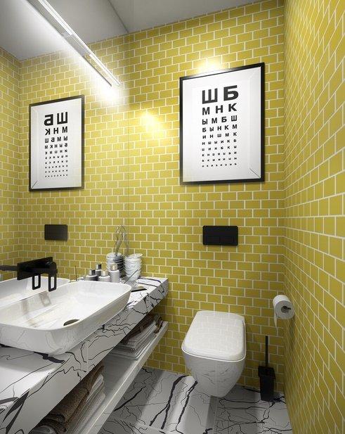 Фотография: Ванная в стиле Скандинавский, Советы, маленькая ванная – фото на INMYROOM