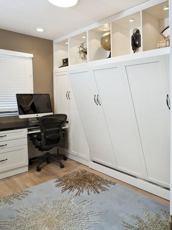 Фотография: Кабинет в стиле Современный, Советы, Бежевый, Серый, Мебель-трансформер, кровать-трансформер, диван-кровать – фото на INMYROOM